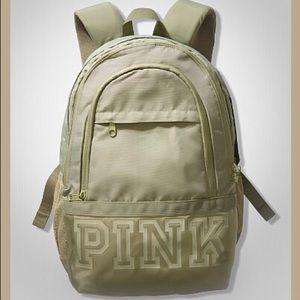 VS PINK Shale Green Collegiate Backpack Book Bag